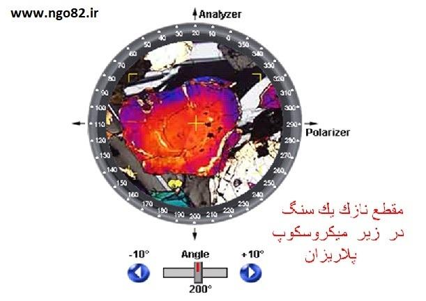 مشاهده کانی در زیر میکروسکوپ پلاریزان
